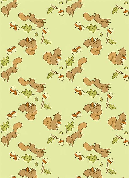 Squirrel-greens-pattern